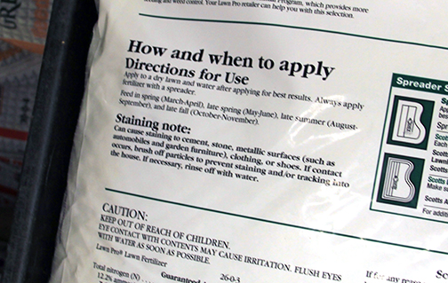 Fertilizing instructions