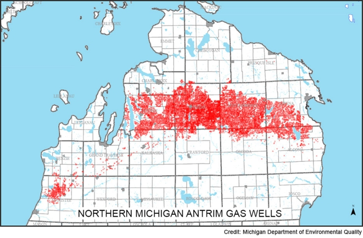 Northern Michigan Antrim Gas Wells