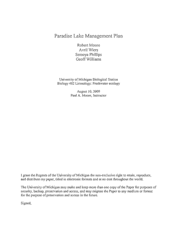 Management Plan cover