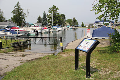 Burt Lake, MI, informational sign