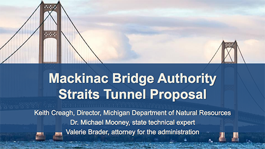 Straits Tunnel-DNR PPT Cover